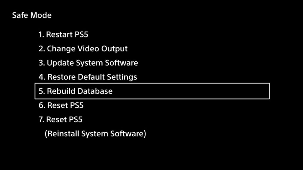 PS5 safe mode to FIX blinking blue light or blue light of death.